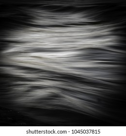Long exposure on a river close up