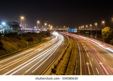 Long exposure over a highway