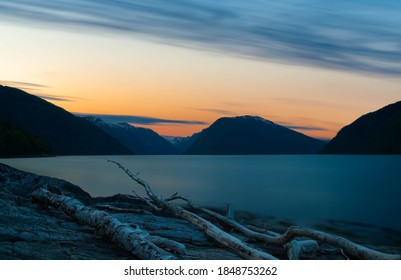 Long exposure photo from Sognefjorden ,Norway. Taken at sunset