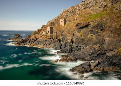Long Exposure photograph of the popular Poldark setting of Botallack Mine, Cornwall, UK