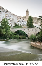 Long exposure photography in the town of Alcala del Jucar  (Spain)