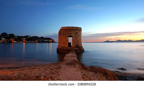 Long exposure picture from french riviera sea view.