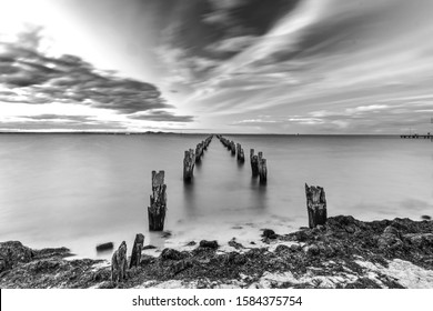 Long exposure of a Pier