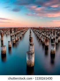 Long exposure of Princes pier in Melbourne, Australia