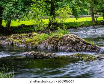 Long exposure of a River in Betws-y-coed North wales