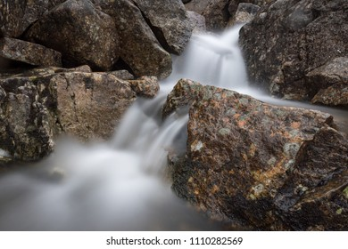 Long exposure rocks river water waterfall