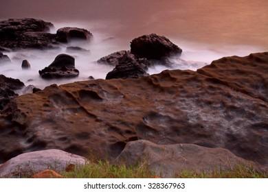 Long exposure of sea shore