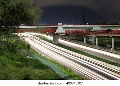 Long exposure shoot in roads at midnight