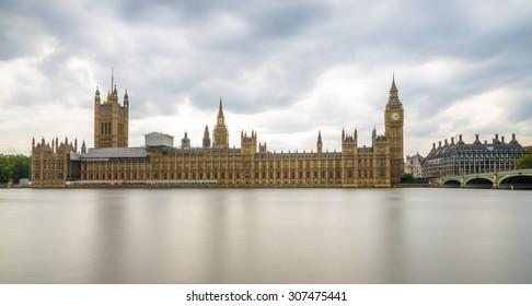 Long Exposure shot of Big Ben and Houses of Parliament, London, UK