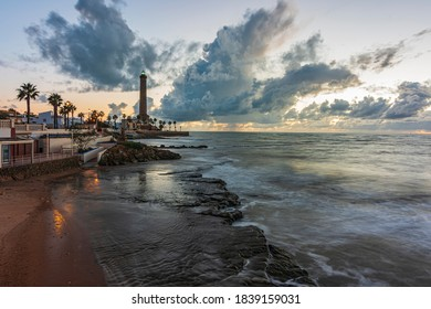 A long exposure shot of the Chipiona lighthouse from the Paseo de las Canteras.