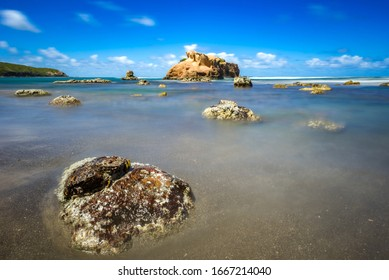 A long exposure shot of Hodges Bay, Calibishie, Dominica