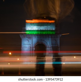 Long exposure shot of india gate at night. Photo was taken in delhi which is capital city of India .