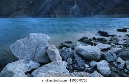 long exposure shot at Satpara lake, Skardu