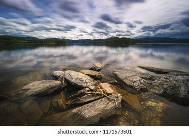 Long exposure shots of the coast of Jonsvatnet lake near Trondheim, Norway.
