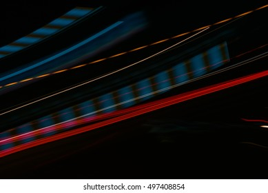 Long exposure small neon lights texture. Modern art. Abstract colourfull neon light.