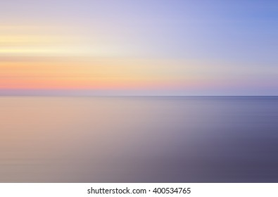 Long Exposure of soft sunset for background..