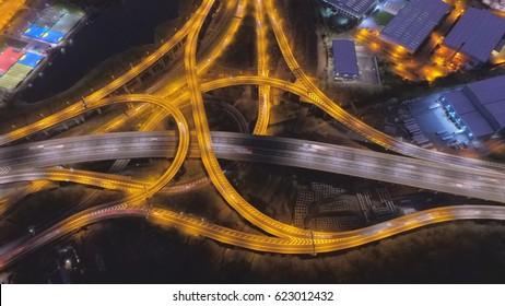 Long Exposure of Spaghetti Junction in Birmingham, UK.