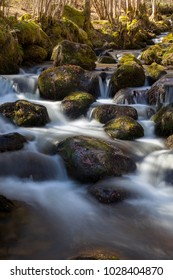 Long exposure of a stream at Gourbit - Ariege (France)