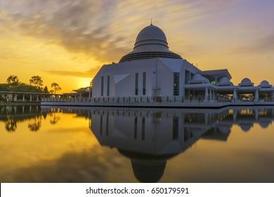 Long Exposure Sunrise At Annur Mosque, Perak, MAlaysia