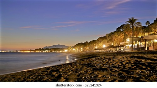 Long exposure sunset in Marbella Spain - 24 September 2016