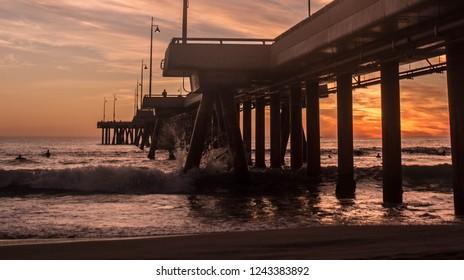 Long exposure sunset in Venice
