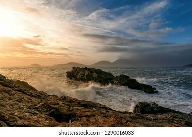 Long exposure of Tellaro village - La Spezia - LIgurian sea - Italy