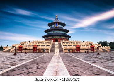 Long exposure of the Temple of Heaven in Beijing, China.