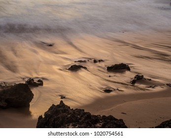 Long exposure of tide coming in and Blairgowrie back beach.