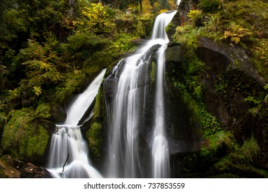 Long exposure of the Todtnau waterfall in Black Forest