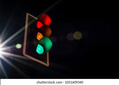 Long exposure trafic lights