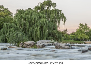 A long exposure of the Vaal river in South Africa