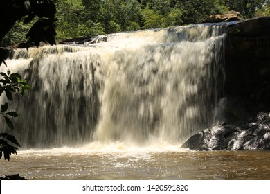 Long exposure of the waterfall in the national park.Waterfall in Thailand. Huai (Mae Nam), Wang Yai (Big), Waterfall, Waterfall in Asia, Thailand, Sisaket