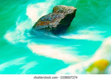 Long expozicios photo on the river