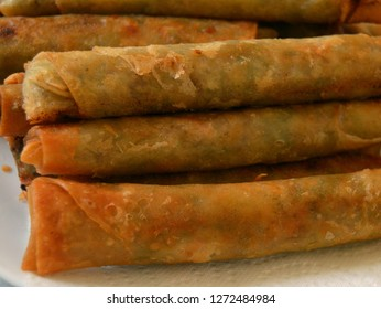 Long Filipino lumpia eggrolls