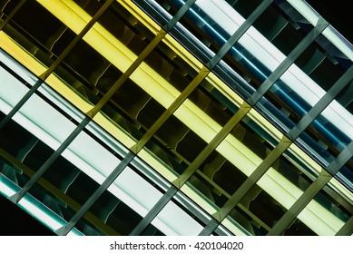 Long  fluorescent ceiling