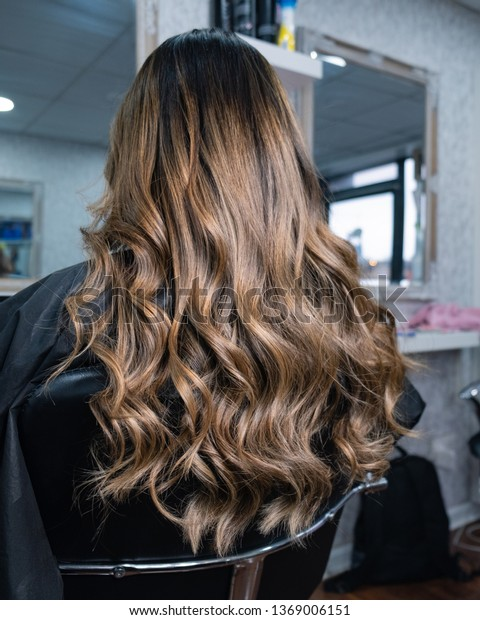 Long Hair After Balayage Treatment Stock Photo Edit Now