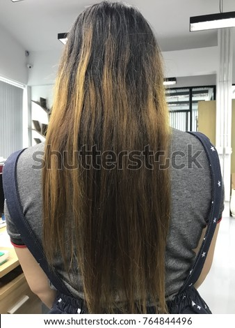 Long Hair Damaged Hair Stock Photo (Edit Now) 764844496 - Shutterstock