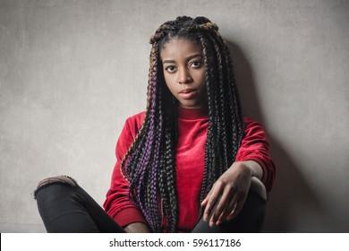 Long haired black girl