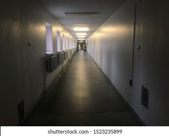 long hallway of the clinic