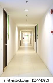 Long hallway in condominium