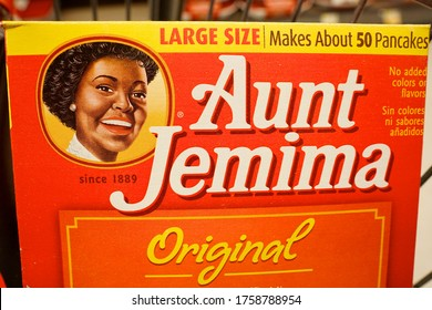 """Long Hill, NJ / USA - June 17, 2020: The Quaker Oats Company says its iconic but controversial trademark Aunt Jemima brand will get a new name in order """"to make progress toward racial equality."""""""