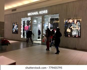 Long Island, NY - Circa 2017: Michael Kors designer clothing retail store location in shopping mall