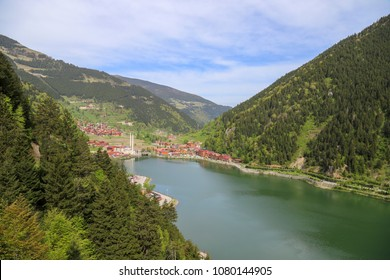 Long lake in the Trabzon Turkey