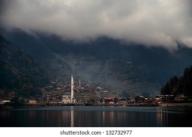 Long Lake (Uzungol) in Trabzon,Turkey