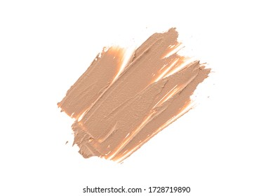 Long lasting eyeshadow make up base in abstract shape on background