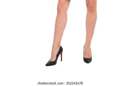 Long legs in high heels