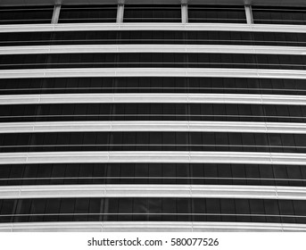 Long line patterns of windows of a new office building