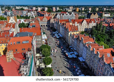 The long market and Green Gate in Gdansk, Poland