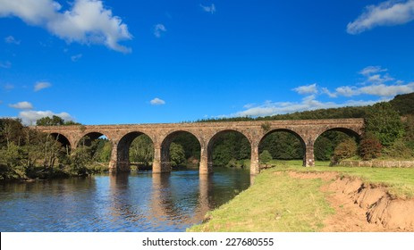 Long Meg Viaduct. Long Meg Viaduct in Cumbria, northern England carries the Settle to Carlisle railway across the river Eden.