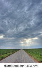 long open road in Canada, Ontario